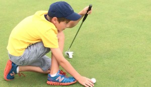 Junior Golf Camp. Line it up